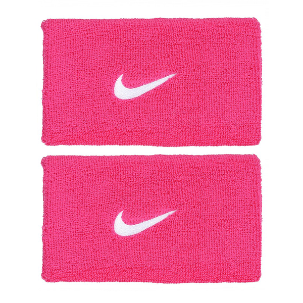 Nike Swoosh Wristbands Doublewide - Pink/White-Wristbands- Canada Online Tennis Store Shop