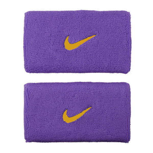 Nike Swoosh Wristbands Doublewide - Purple/Gold-Wristbands- Canada Online Tennis Store Shop