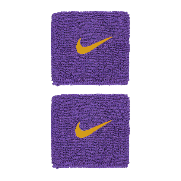 Nike Swoosh Wristbands - Purple/Gold-Wristbands- Canada Online Tennis Store Shop