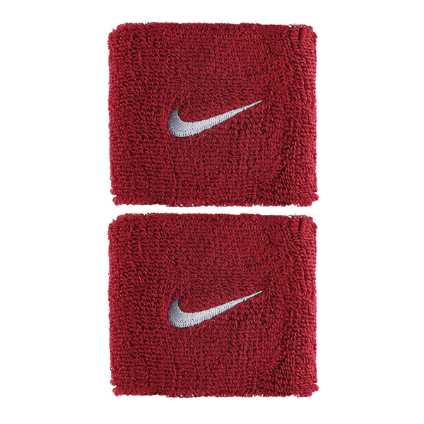 Nike Swoosh Wristbands - Red/Silver-Wristbands- Canada Online Tennis Store Shop
