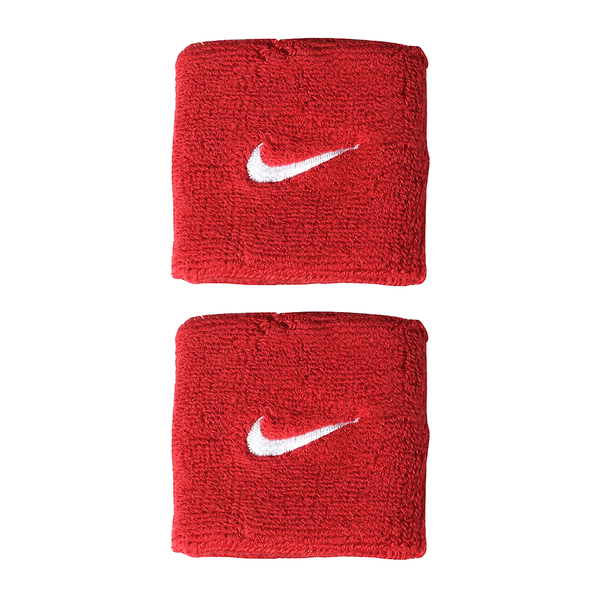 Nike Swoosh Wristbands - Red/White-Wristbands- Canada Online Tennis Store Shop
