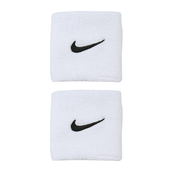 Nike Swoosh Wristbands - White/Black-Wristbands- Canada Online Tennis Store Shop