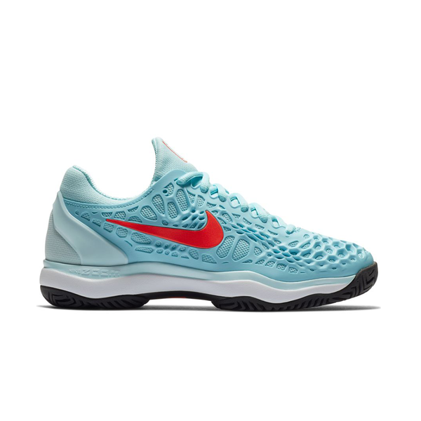 Nike Zoom Cage 3 (Women's) - Still Blue/Bright Crimson/Topaz Mist-Footwear- Canada Online Tennis Store Shop