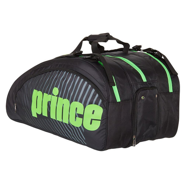 Prince Tour Challenger 9 Pack Bag - Black/Green-Bags- Canada Online Tennis Store Shop
