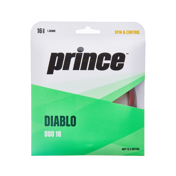 Prince Diablo Duo 16 Pack - Black/Red-Tennis Strings- Canada Online Tennis Store Shop