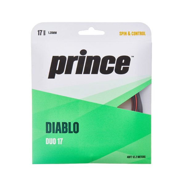 Prince Diablo Duo 17 Pack - Black/Red-Tennis Strings- Canada Online Tennis Store Shop