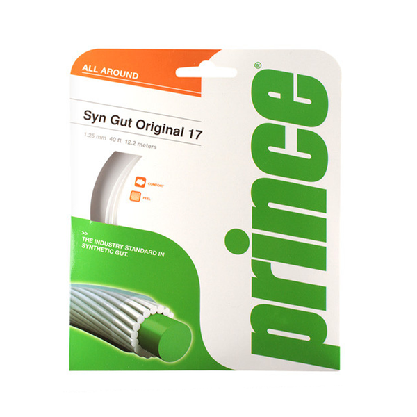 Prince Synthetic Gut 17 Original - White-Tennis Strings- Canada Online Tennis Store Shop