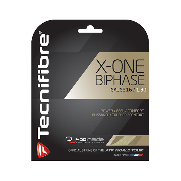 Tecnifibre X-One Biphase 16 Pack - Natural-Tennis Strings- Canada Online Tennis Store Shop