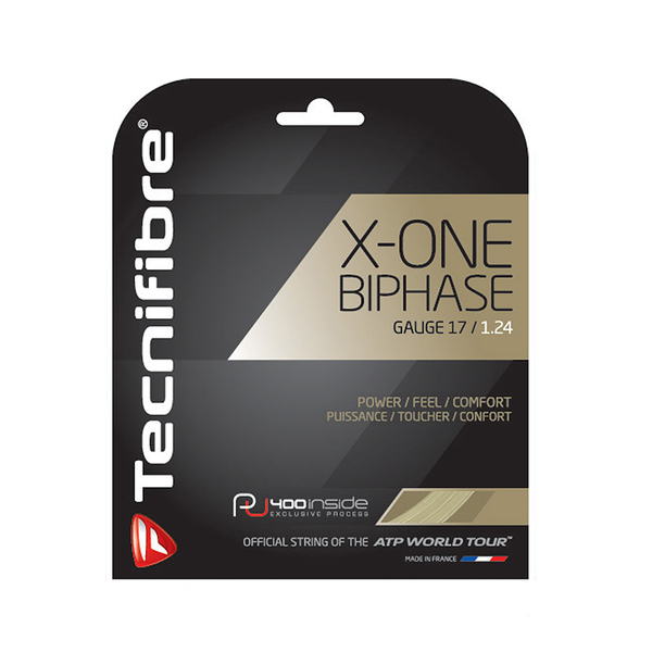 Tecnifibre X-One Biphase 17 Pack - Natural-Tennis Strings- Canada Online Tennis Store Shop
