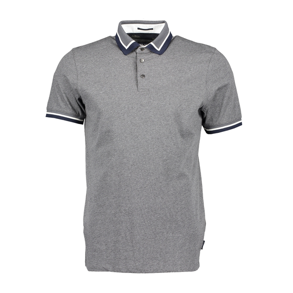 Ted Baker Gummy Collar Polo (Men's) - Charcoal-Tops- Canada Online Tennis Store Shop