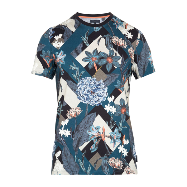 Ted Baker Jolly Floral T-Shirt (Men's) - Navy-Tops- Canada Online Tennis Store Shop