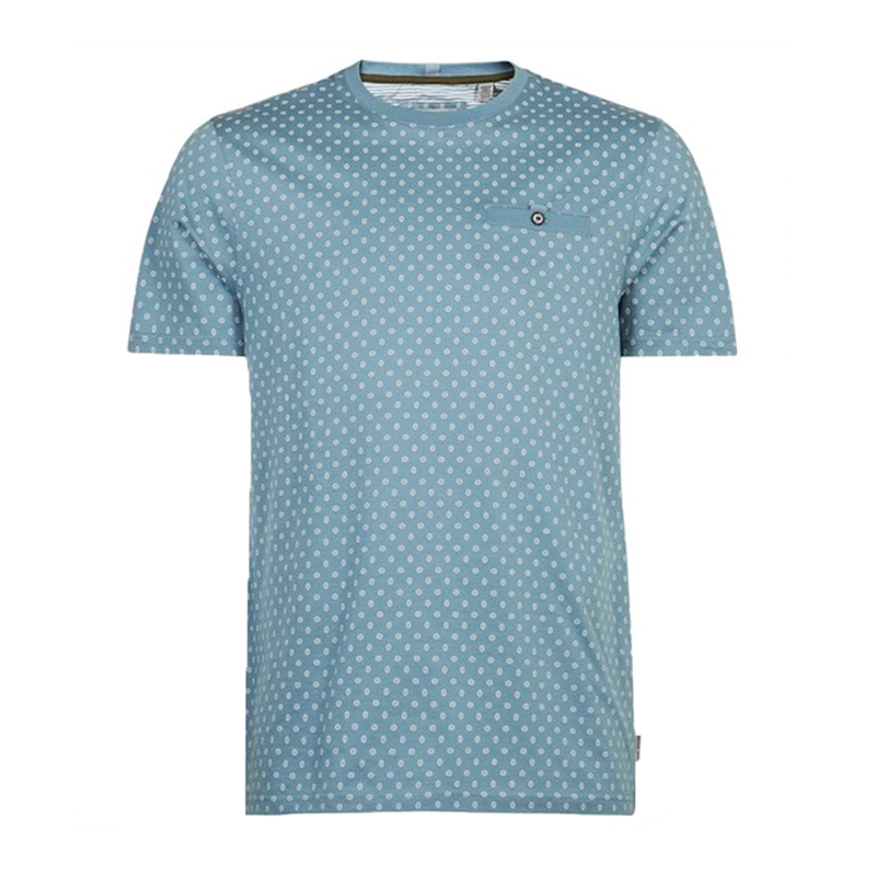 Ted Baker Oldtec Geo Print Cotton T-Shirt (Men's) - Blue-Tops- Canada Online Tennis Store Shop