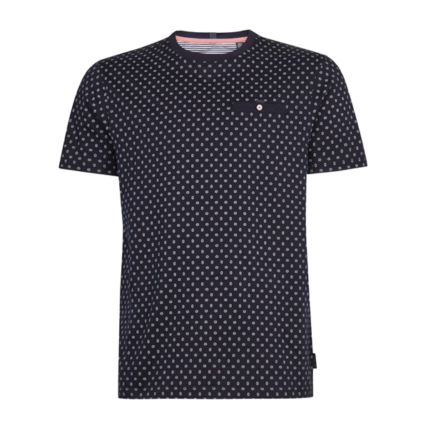 Ted Baker Oldtec Geo Print Cotton T-Shirt (Men's) - Navy-Tops- Canada Online Tennis Store Shop