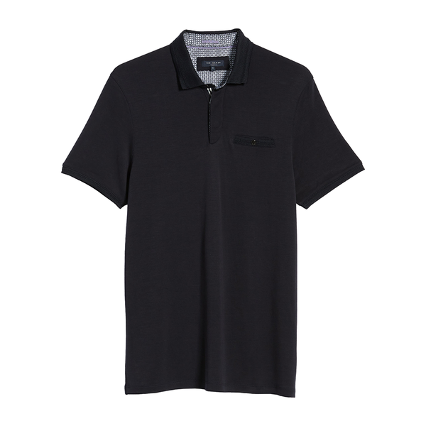 Ted Baker Plaza Slim Fit Polo (Men's) - Navy-Tops- Canada Online Tennis Store Shop