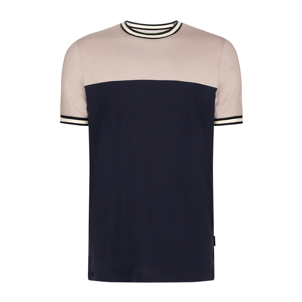Ted Baker Silva Panelled T-Shirt (Men's) - Dusky Pink-Tops- Canada Online Tennis Store Shop
