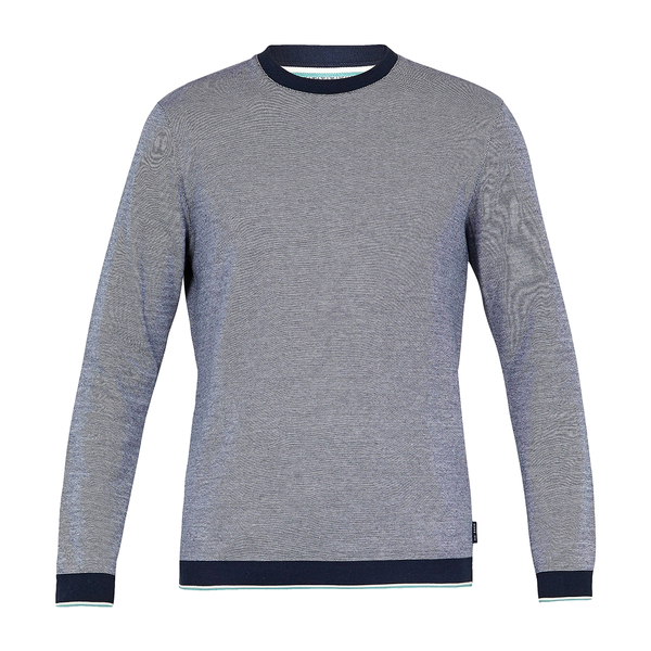 Ted Baker Toyde Oxford Jersey Crew Neck (Men's) - Navy-Tops- Canada Online Tennis Store Shop