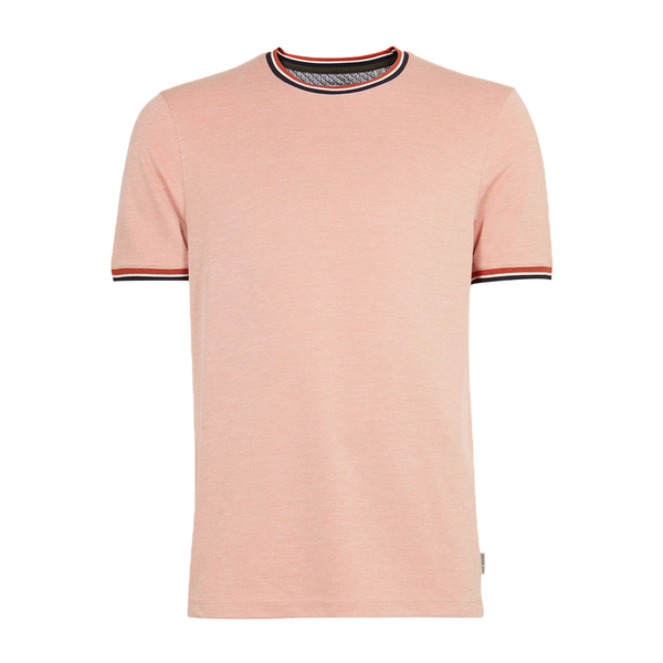 Ted Baker Winna Striped Cotton T-Shirt (Men's) - Orange-Tops- Canada Online Tennis Store Shop