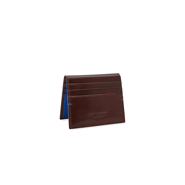 Ted Baker Wooster Contrast Internals Leather Card Holder - Tan-Wallet- Canada Online Tennis Store Shop