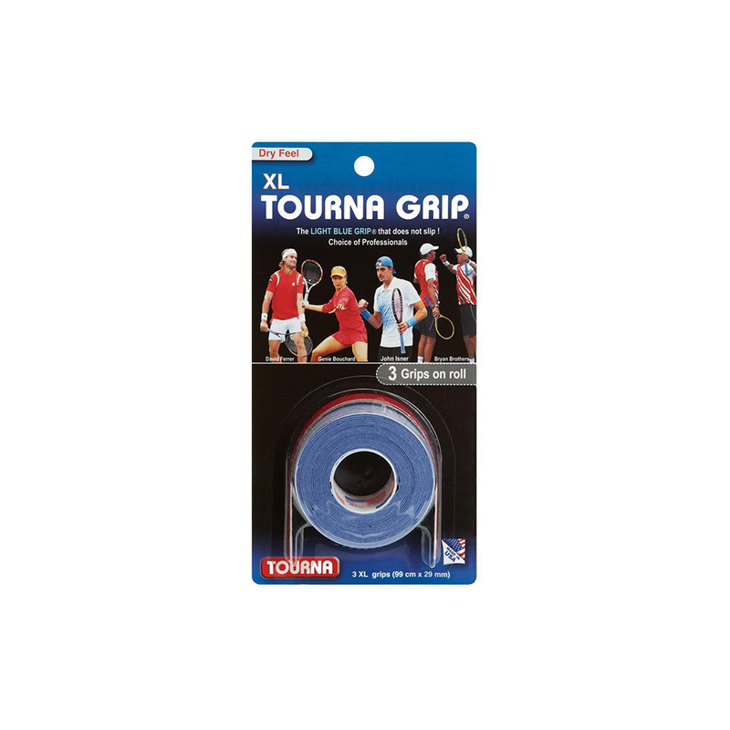 Tourna Grip XL Overgrips (3-Pack) - Blue-Grips- Canada Online Tennis Store Shop