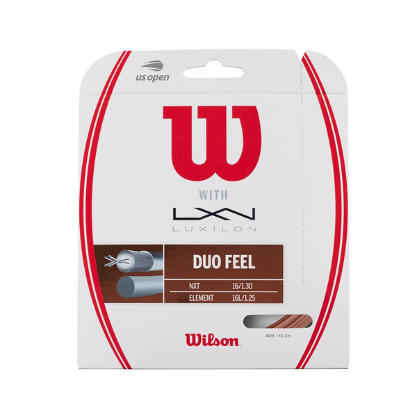 Wilson Duo Feel Hybrid Pack - Natural/Bronze-Tennis Strings- Canada Online Tennis Store Shop