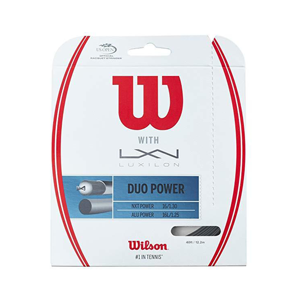Wilson Duo Power Hybrid Pack - Natural/Silver-Tennis Strings- Canada Online Tennis Store Shop