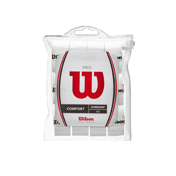 Wilson Pro Overgrip 12-Pack - White-Grips- Canada Online Tennis Store Shop