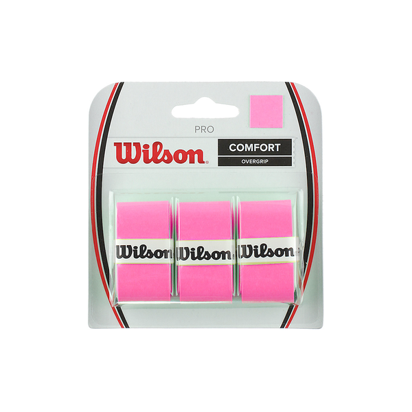 Wilson Pro Overgrip 3-Pack - Optic Pink-Grips- Canada Online Tennis Store Shop