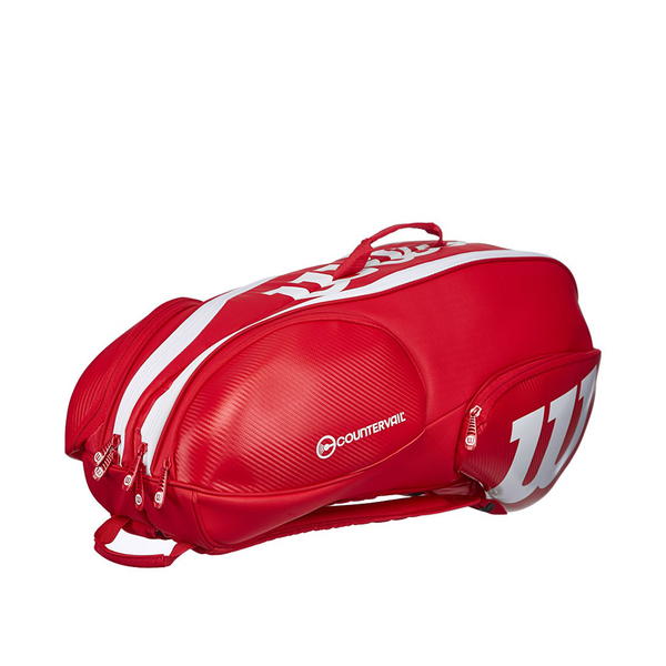 Wilson Pro Staff 9 Pack Bag - Red/White-Bags- Canada Online Tennis Store Shop