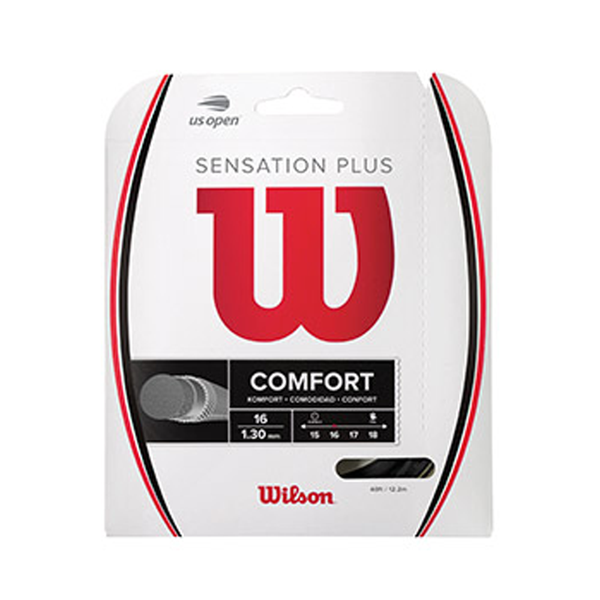 Wilson Sensation Plus 16 - Black-Tennis Strings- Canada Online Tennis Store Shop