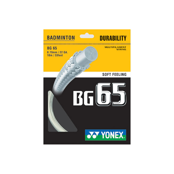 Yonex BG65 Pack - White-Badminton Strings- Canada Online Tennis Store Shop