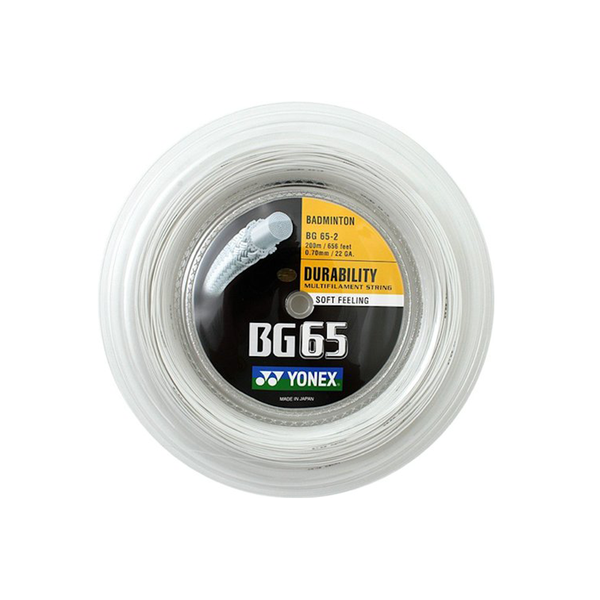 Yonex BG65 Reel (200M) - White-Badminton Strings- Canada Online Tennis Store Shop