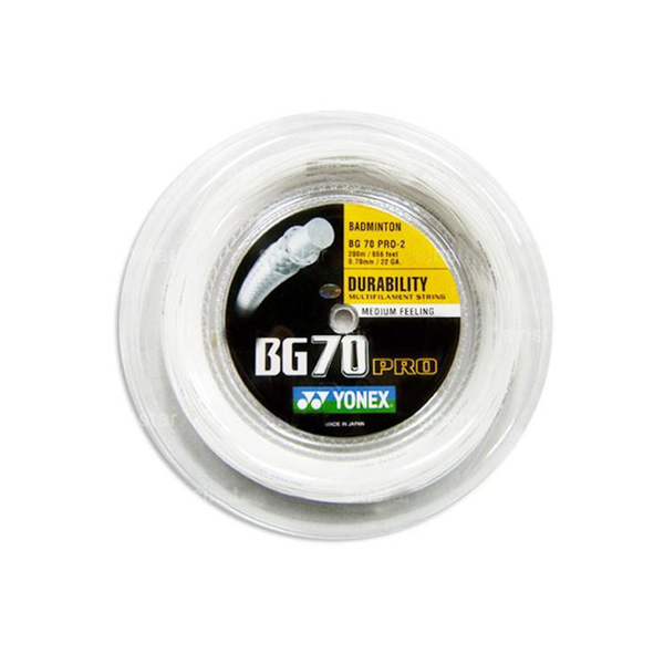 Yonex BG70 Pro Reel (200M) - White-Badminton Strings- Canada Online Tennis Store Shop