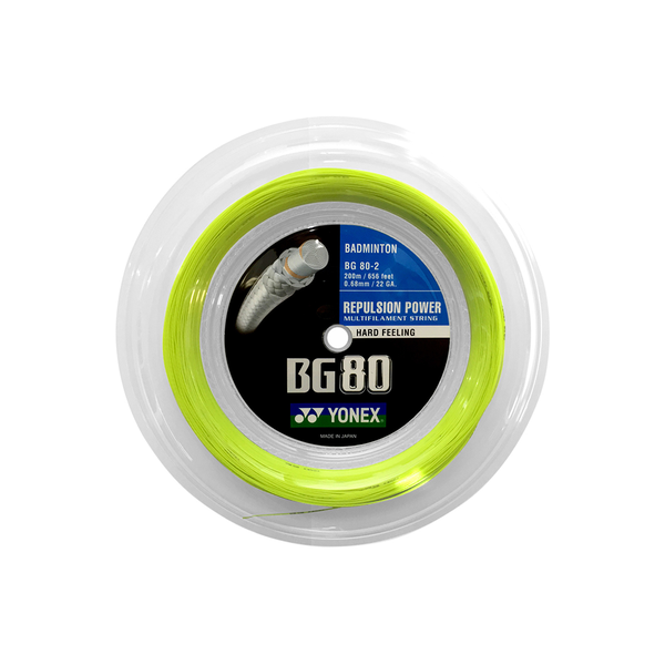 Yonex BG80 Reel (200M) - Lime Green-Badminton Strings- Canada Online Tennis Store Shop