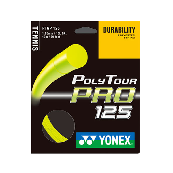 Yonex Poly Tour Pro 125 16 Pack - Yellow-Tennis Strings- Canada Online Tennis Store Shop