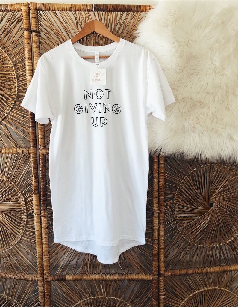 Not Giving Up (White)