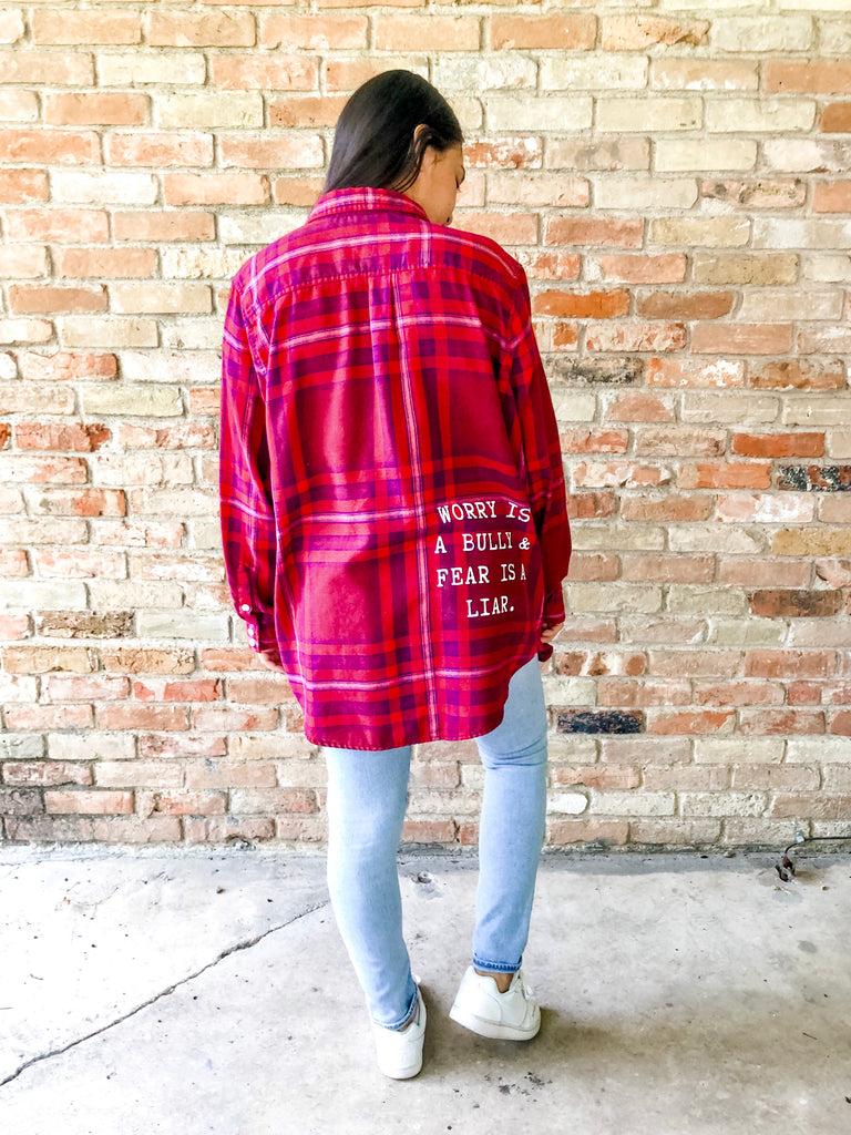 Worry Is a Bully Flannel - (2XL)