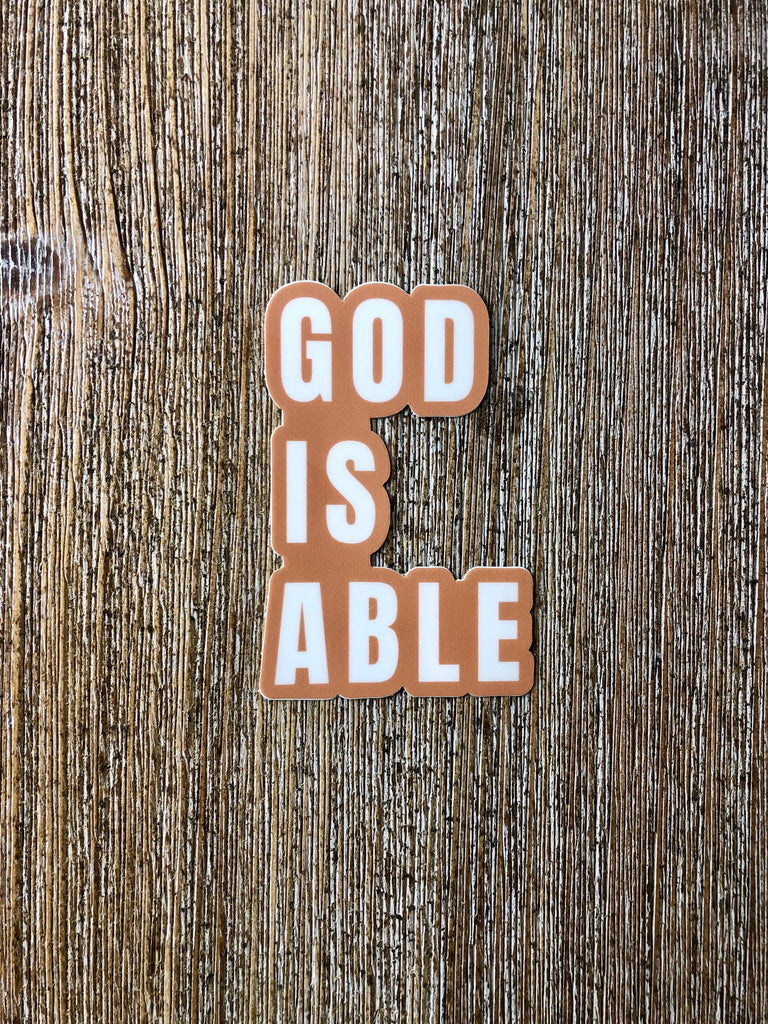 God Is Able (Sticker)