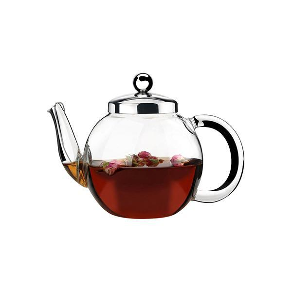 ATHENA LEXI-TEAPOT-GLASS, WITH STRAINER, 600ml