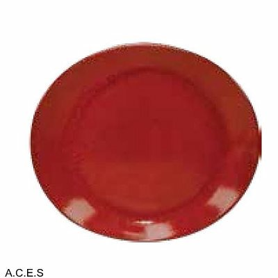 tablekraft ARTISTICA OVAL PLATE-295x250mm REACTIVE RED