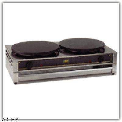 ROLLER GRILL Crepe Machine - Cast Iron 2 x 400 plate size