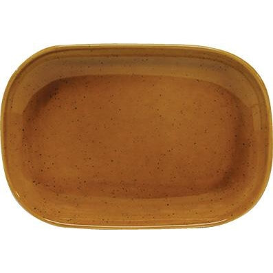 tablekraft ARTISTICA RECTANGULAR PLATE, COUPE 240x160mm HAZELNUT