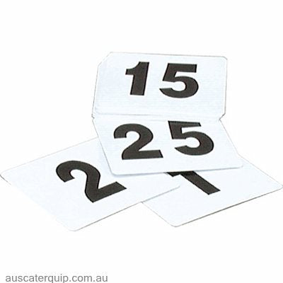 tablekraft TABLE NUMBER SET- 1-25 BLACK ON WHITE