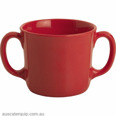 JAB GELATO CUP WITH 2 HANDLES RED 250ml X6