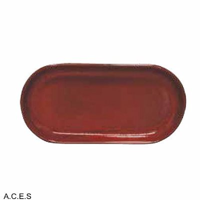 tablekraft ARTISTICA OVAL PLATE COUPE 300x140mm REACTIVE RED