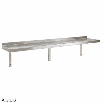 JEMI Single Tier Solid Wall Shelf - 2.0mm 1200mm wide