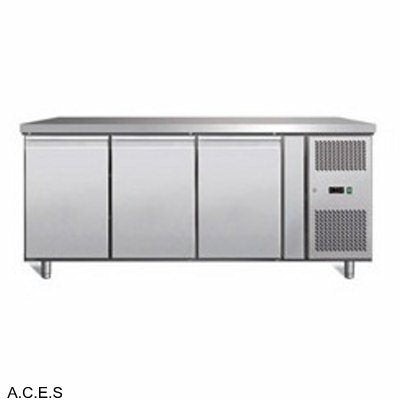 GREENLINE Bench Refrigeration 600 Deep (3 Solid Doors)