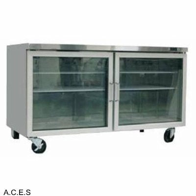 GREENLINE COMPACT BENCH REFRIGERATION GLASS DOORS 1553 mm wide