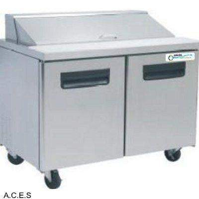 GREENLINE COMPACT PREPARATION BENCH REFRIGERATION 2 Door 1.2M