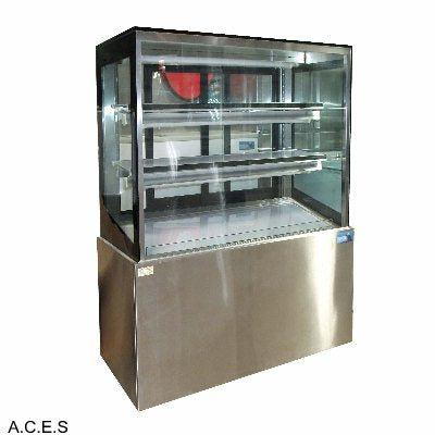MITCHEL BLACK 900mm straight glass cold cabinet