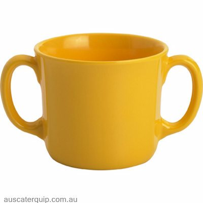 JAB GELATO CUP WITH 2 HANDLES YELLOW 250ml X6